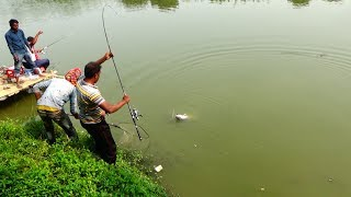 Best Fishing Video | 9 KG Big Grass Carp Fish Landing Technique By Daily Village Life