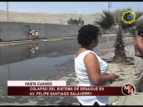 COLAPSO DE SISTEMA DE DESAGUE EN AV FELIPE SANTIAGO