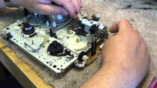 JVC VHS VCR full mechanism tear down and reassemble