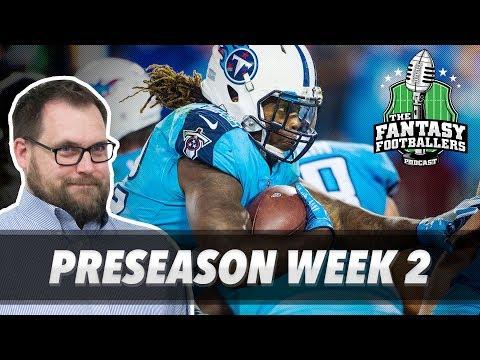 Fantasy Football 2017 - Preseason Week 2 Recap + Rising Stars - Ep. #418