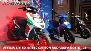 Aprilia SR150 Facelift, Vespa 150 Connectivity launched | Quick Walkaround | ZigWheels.com