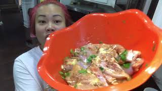 Making sweet chili chicken with the kids