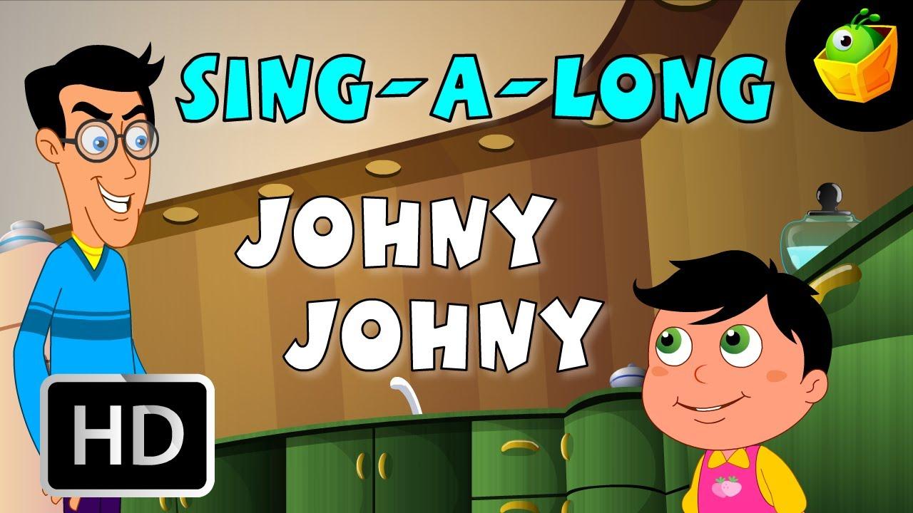 Karaoke: Johny Johny - Songs With Lyrics - Cartoon/Animated Rhymes For Kids