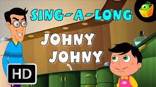 Karaoke: Johny Johny - Songs With Lyrics - Cartoon/Animated Rhymes For Kids