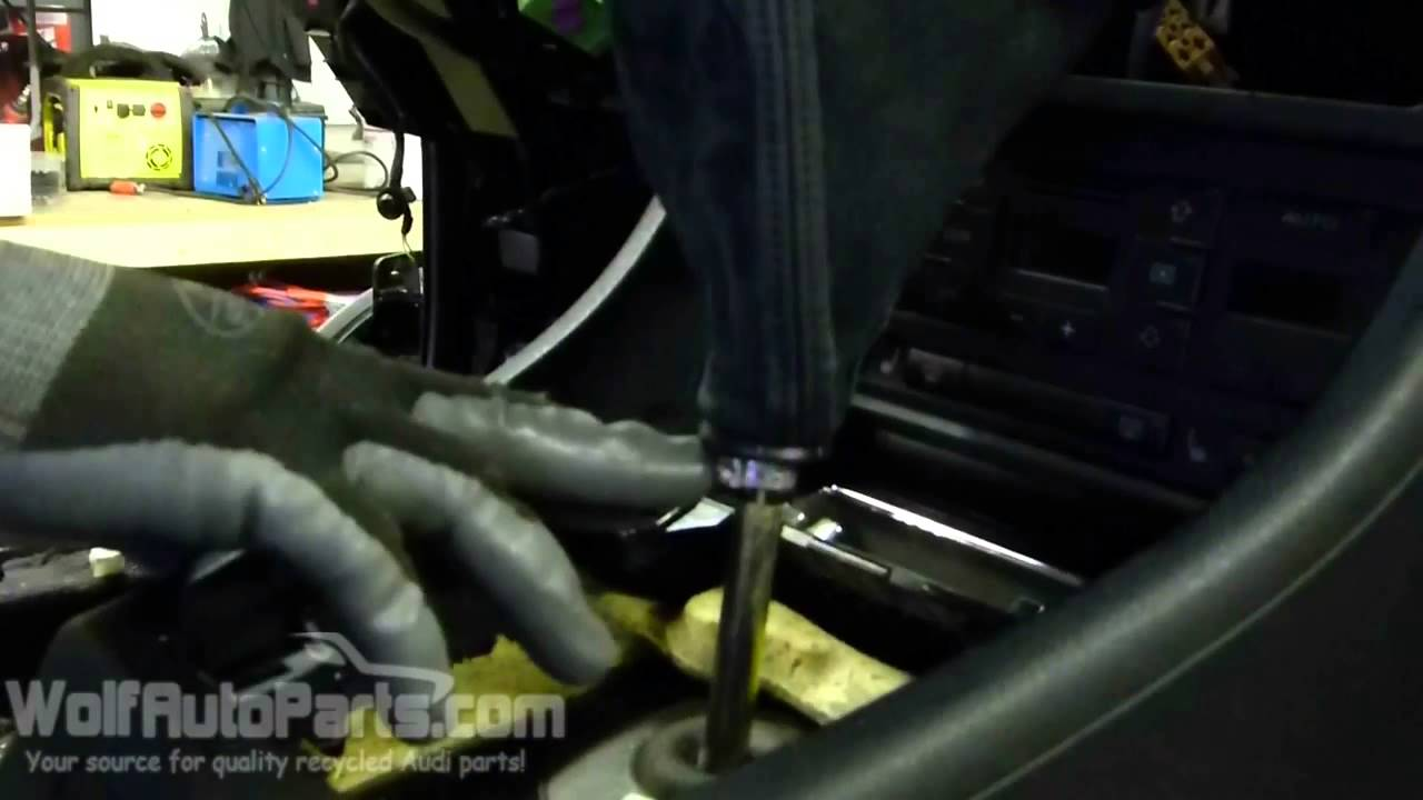 how to remove a shift knob b6 manual audi a4 2002 2005 wolf auto parts youtube [ 1280 x 720 Pixel ]