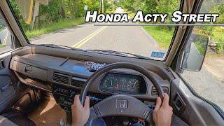 The 38 Horsepower Kei Car You Need To Drive!  - 1992 Honda Acty Street Van POV...