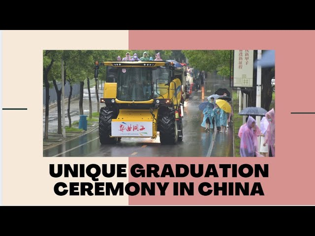 Unique graduation ceremony in China | 9 News HD