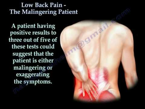 Low back pain , Accidents ,Malingering patient  - Everything You Need To Know - Dr. Nabil Ebraheim