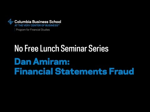 Dan Amiram: Financial Statements Fraud
