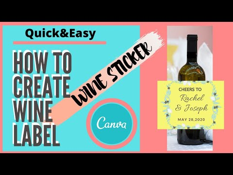 How To Create Wine Label With Canva | Canva Free Template #canva #canvatutorial#learncanvawithmay