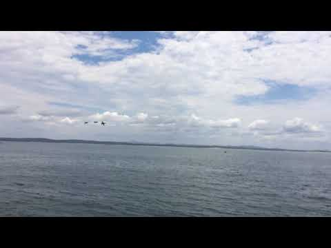 RAAF F/A-18 Hornets over Nelson Bay