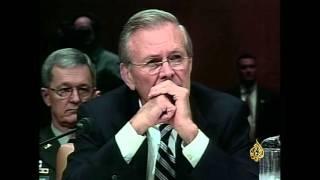 جلسة استماع صاخبة لرامسفيلد بمجلس الشيوخ الأميركي