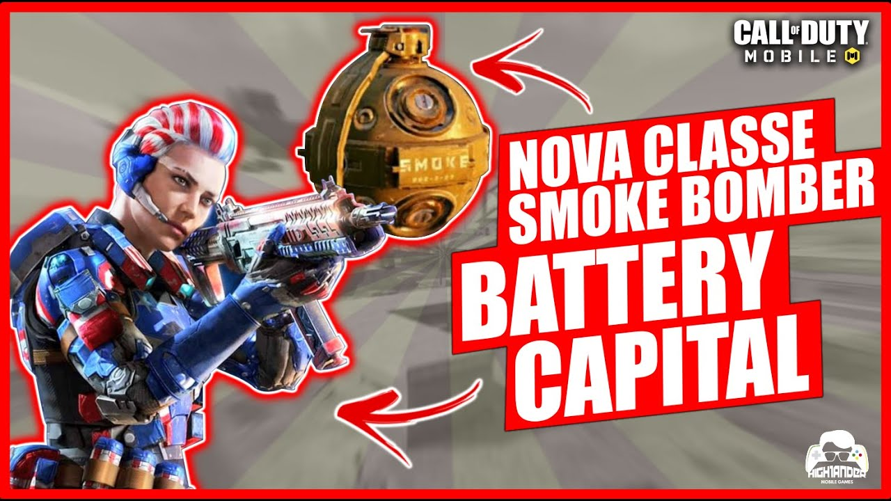 NOVA CLASSE SMOKE BOMBER E NOVA SKIN BATTERY CAPITAL + LK24 JUSTICAR no Call of Duty: Mobile