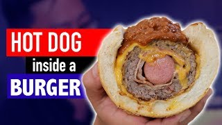 HOT DOG INSIDE A BURGER - VERSUS