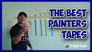 Painters Tape Test.  The Best Tape for Painters.