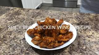 Spicy BBQ Chicken 🍗 Fried Wings Recipe by MK