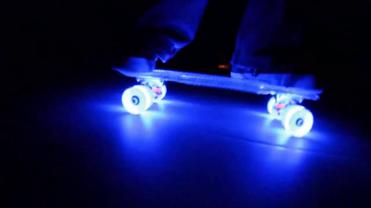 Светящиеся колеса для роликов - YouTube