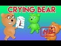 Mega Gummy bear crying his cutting his clothes finger family song for kids | Gummy Bear for C  #ASO