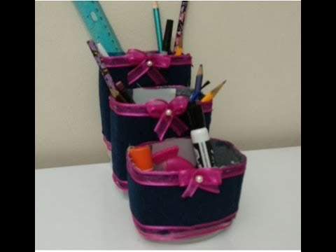 DIY Recycling Ideas - How to make an Amazing and Easy Desk Organizer !