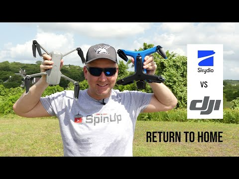 Mavic Air 2 Vs Skydio 2 - Return To Home Autonomous Landing Accuracy