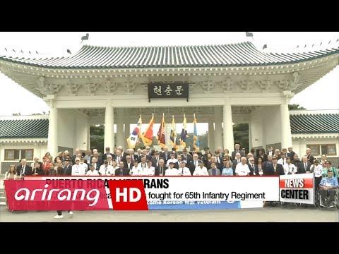 Puerto Rican and American Korean War veterans visit Korea