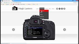 Magic Lantern installation (English) for Canon cameras