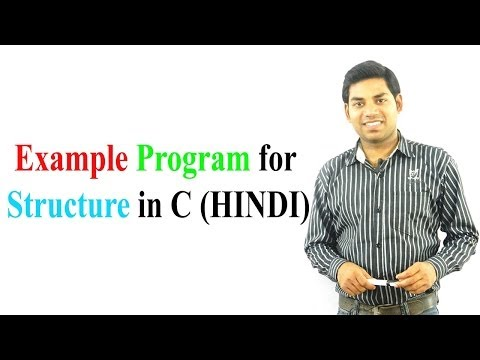 Program for Nested Structure in C (HINDI)