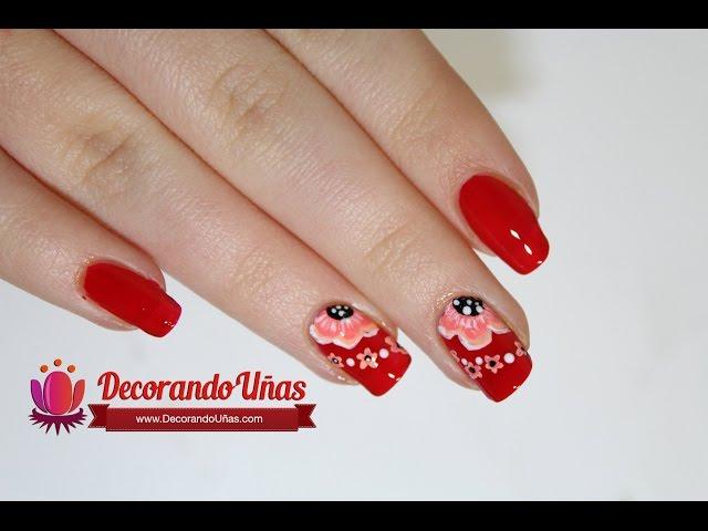 Uñas Decoradas Rojas Mas De 180 Diseños
