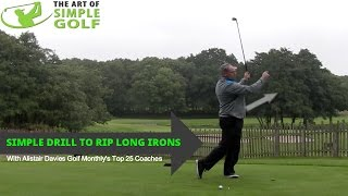 How To Hit Long Irons Better With A Simple Golf Drill