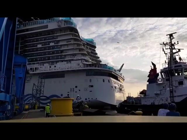 AIDA Nova float out 21st August 2018