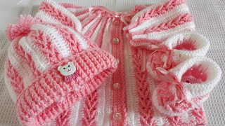 Conjunto de crochê para bebê RN/Passo a passo - Parte 1 - Casaquinho