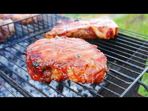 Как быстро замариновать стейк из свинины