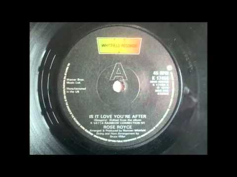 """Rose Royce - Is It Love You're After (12"""" ? unknown Version)"""
