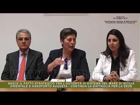 Conferenza stampa Marina Noè, presidente di Assoporto Augusta
