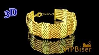 Beaded Bracelet Turtle. Peyote Stitch. 3D Beading Tutorial