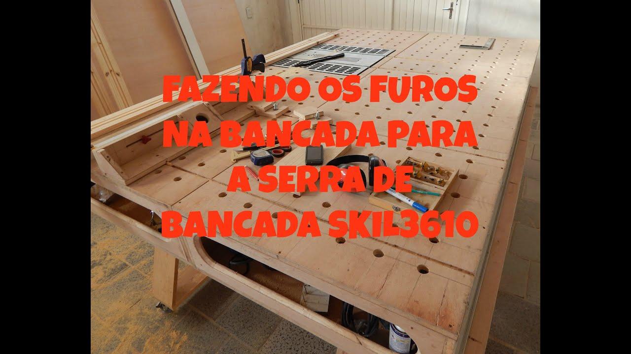 COMO FAZER OS FUROS NA BANCADA DA MARCENARIA VIDEO 18   #C62105 2708x2137