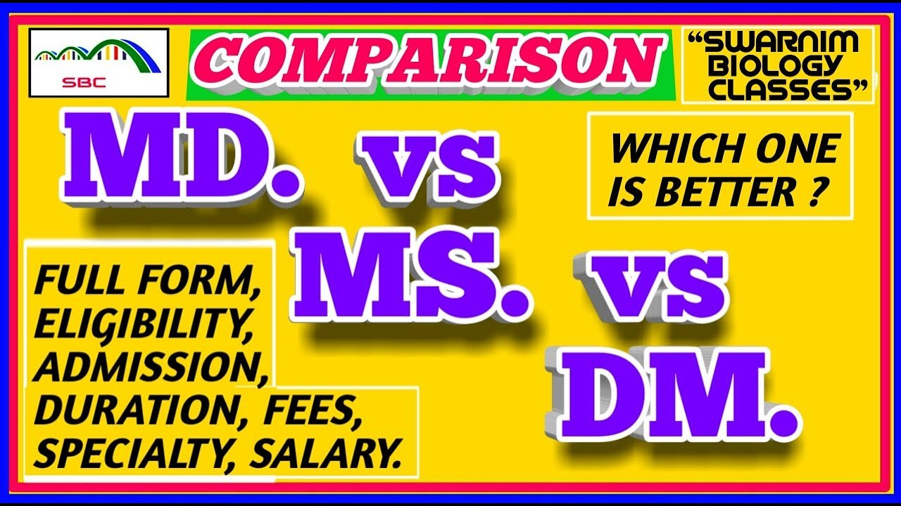 MD vs MS vs DM COURSES AFTER MBBS   WHICH ONE IS BETTER? WHAT TO DO AFTER  MBBS  SPECIALITY COURSES