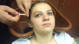 first time getting my eyebrows waxed