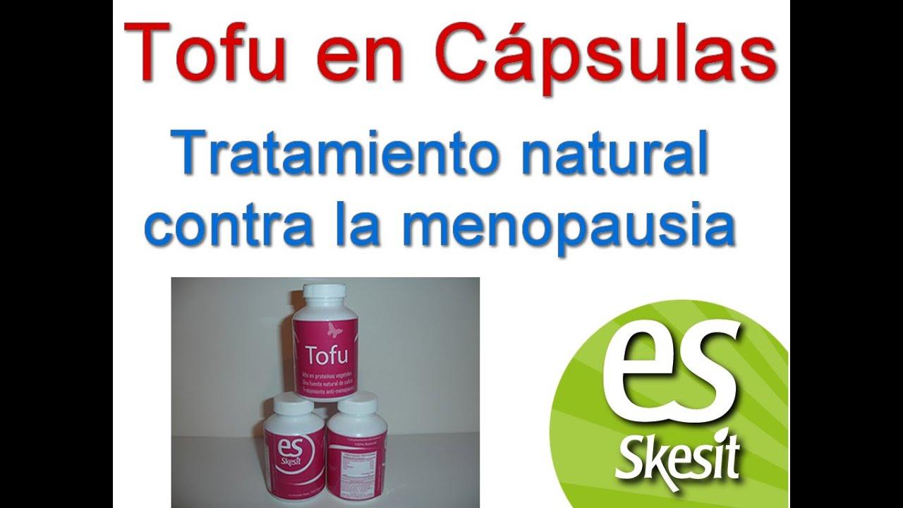 Tofu en cápsulas tratamiento natural para la Menopausia