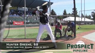 hunter greene prospect video ss notre dame high school class of 2017