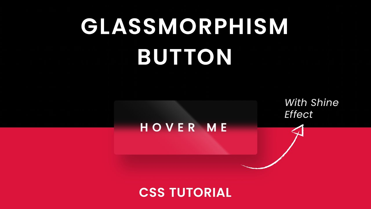 Glassmorphism Button CSS | With CSS Shine Effect