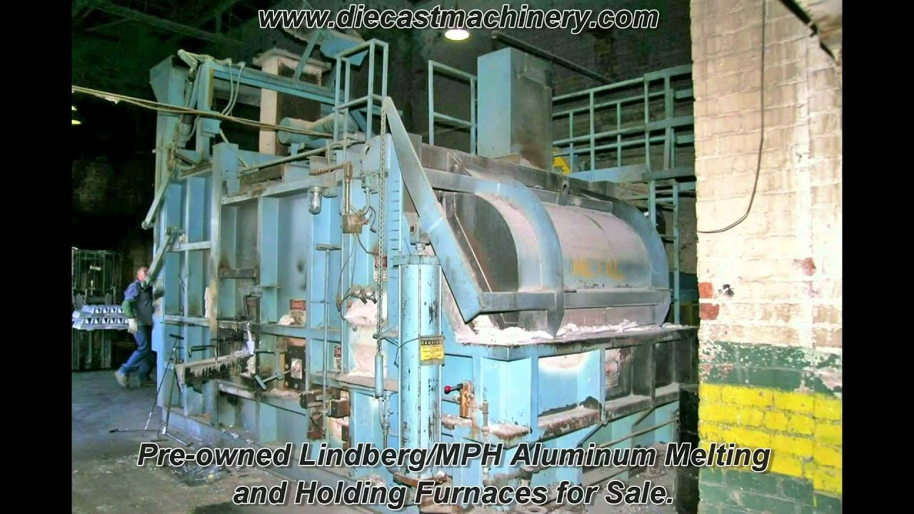 lindberg mph aluminum melting and holding furnaces for sale youtube