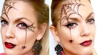Quick and easy spider web halloween makeup
