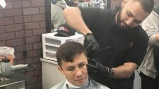 Головкин освежил образ у своего парикмахера перед поездкой в Нью-Йорк