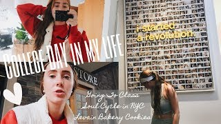 FUN DAY IN MY LIFE: NYC COLLEGE STUDENT(Fordham University) : Class, Soul Cycle & Levain Bakery