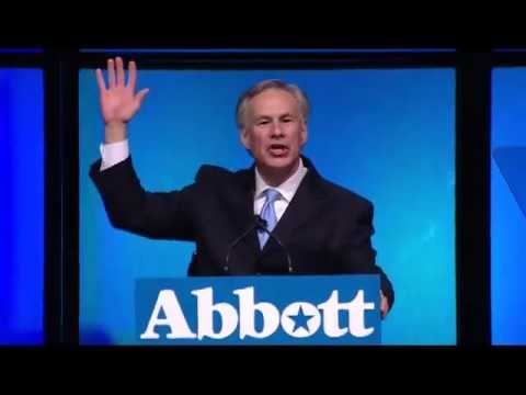 Attorney General Greg Abbott speaks at the 2012 TX GOP Convention