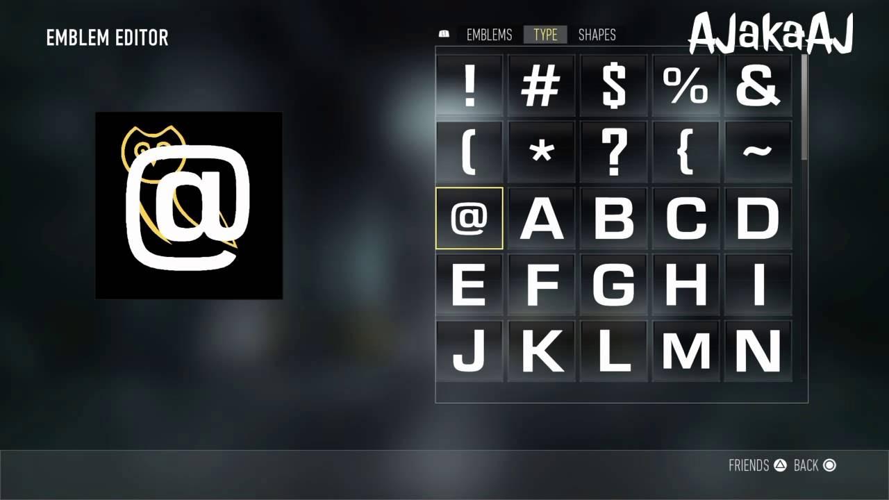 Ovo Logo Emblem Tutorial V1 Advanced Warfare Youtube
