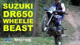 SUZUKI DR650 WHEELIE BEAST! Cross Training Adventure