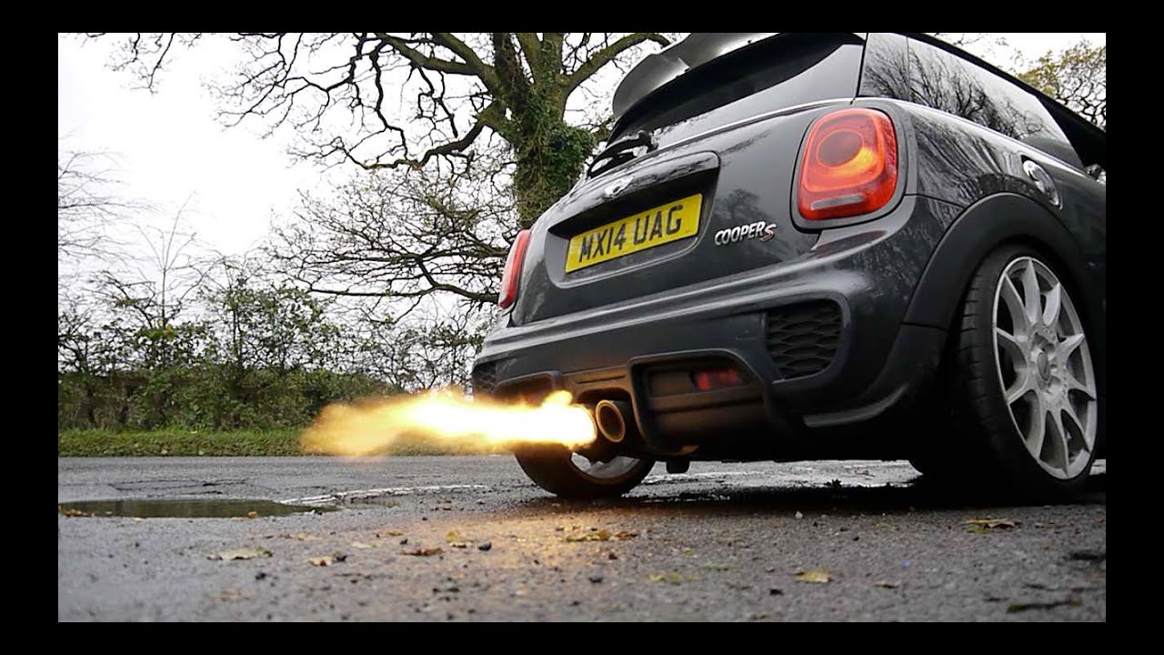 Mini Cooper F56 >> Incredibly loud epic Mini Cooper S Spitting Flames F56 Remus catback and Scorpion decat downpipe ...