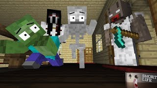 Monster School : HORROR GRANNY, SHORT LIFE, SLENDRINA GAME  Minecraft Animation